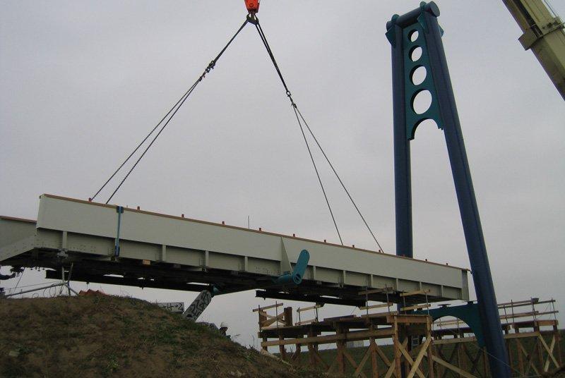 Composite bridge installation